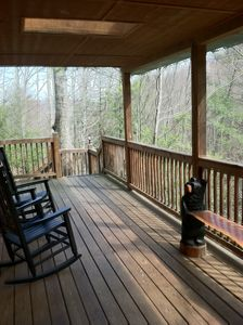 Gatlinburg cabin rental - relax on the porch in the rockers