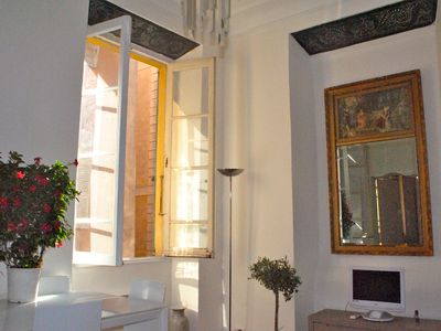 Nice Old Town (Vieux Nice) apartment rental - Antique mirror in living room