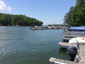 Lake Martin condo rental - View from the dock