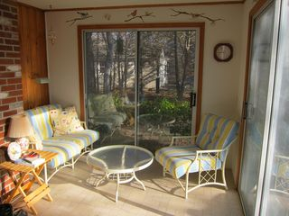 South Dennis house photo - Sunny porch great for morning coffee or afternoon drinks.