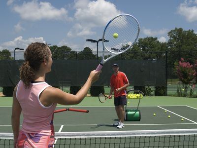 Play a game on a fantastic tennis complex or book a lesson from our local pro.
