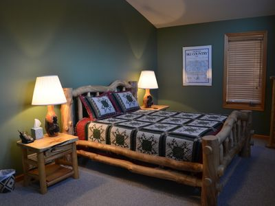 Upstairs Bedroom #2 with a new Queen bed