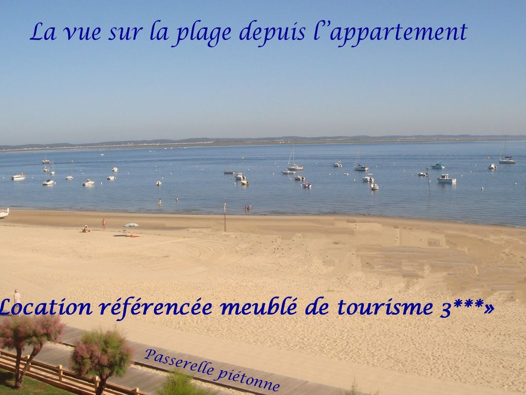 arcachon appartement vue mer arcachon location de vacances appartement avec terrasse dans. Black Bedroom Furniture Sets. Home Design Ideas