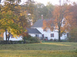 Alton farmhouse photo - Enjoy wildlife, nature, views and beautiful sunsets from the back deck.