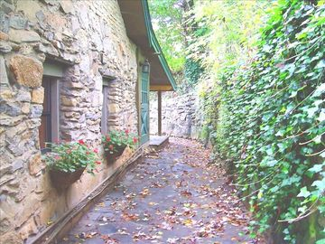 Asheville cottage rental - A MAGICAL RETREAT with Old World Charm and Leafy Views of Nearby Mountains.