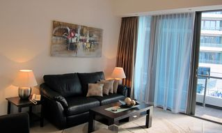 Dubai Marina & Al Sufouh apartment photo - Living room sofa