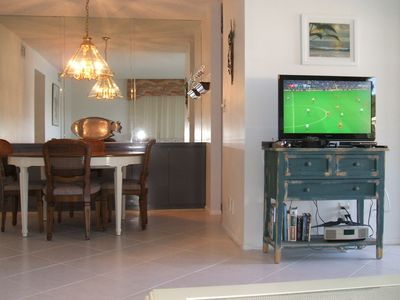 West Naples condo rental - TV and Dining area