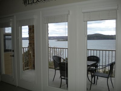 Full view of Table Rock Lake from Living Room, Dining Room and Kitchen.