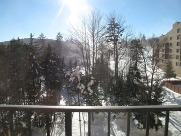 Snowshoe Mountain condo rental - View of the mountains, and overlooking the swimming pool
