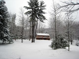 Woodstock cabin photo - Our cabin in the snow