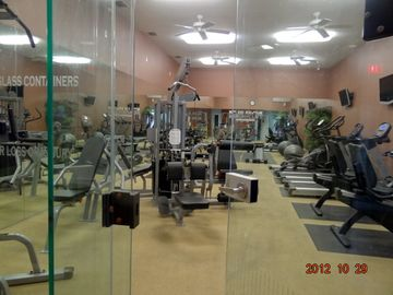 You feel so comfortable in the work out room.Enjoy your vacation!