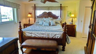 Pine Island house rental - Master Bedroom with new King memory foam mattress. Dressing area w/ 3 closets.