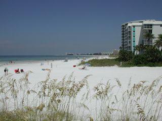 Beautiful white quartz sand! - Siesta Key condo vacation rental photo