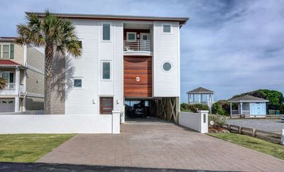 Custom Newly Expanded and Renovated Ocean Front  Home in Kure Beach.