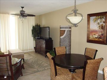 Fort Morgan condo rental - Living and Dining Area with 46 inch LCD TV