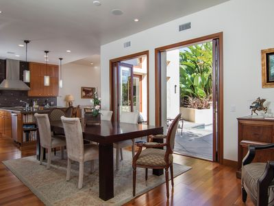 Large Dining area off the kitchen. Table can open up to seat larger parties.