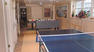Moody Beach house photo - Game Room with Commercial Grade Foosball, Air Hockey, Ping-Pong