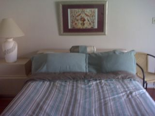 Brigantine condo photo - Large master bedroom with natural morning sun light.