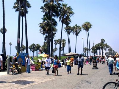 Venice Boardwalk: fun-but far enough way so you have peace & quiet