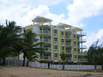 View of the building from the beach