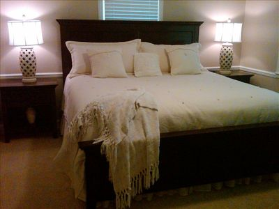 Asheville house rental - King Master Bedroom------------like sleeping on a cloud