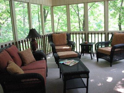 Screened enclosed porch