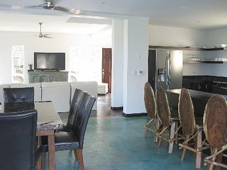 Playa Hermosa estate photo - Breakfast Bar, Indoor Dining Room & Living Room