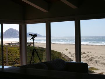 Morro Bay house rental - Unobstructed views of Morro Rock and beach