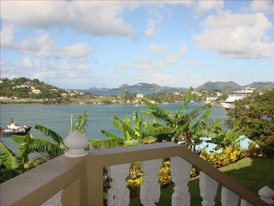 A Perfect Day On LA MARGUERITE Balcony. See Castries Bay & The Northern Reg