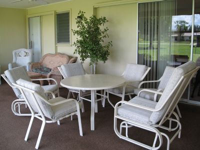 Relax or Entertain Out on the Large Screened Lanai