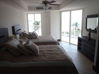 Bedroom #2 with Ocean Views and Private Balcony