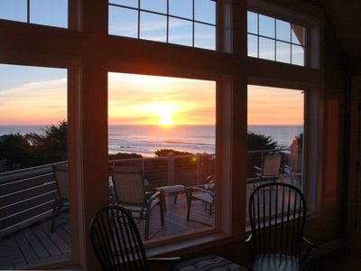 Watch spectacular sunsets over the Pacific from any room in the house!