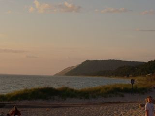 Empire house photo - View of Sleeping Bear Dunes from Empire Beach