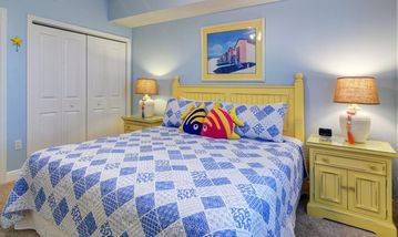 Celadon Beach Resort condo rental - Guest BR with King, 400+ thread count sheets - super comfy!! Flat Panel TV too!