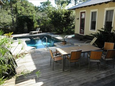 Privacy and Peace of Serenity Oak's Saltwater Pool.