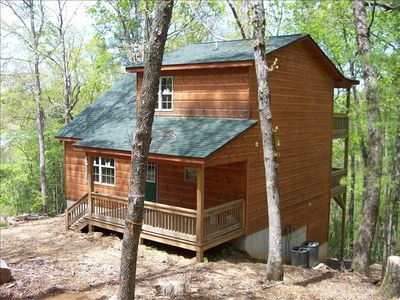 This is the outside of The Bear Den, as you can see there are 3 decks.