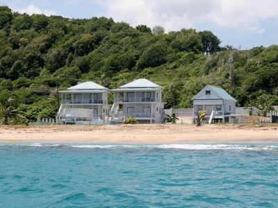 MoonFish Villas viewed from the sea - taken on a trip back from Sandy Island!