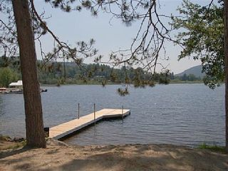 Brant Lake house photo - Sandy Beach and Dock