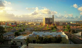 San Diego condo photo - Balcony view. Looking south towards S.D. Bay and the Coronado Bay Bridge.