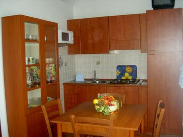 The Kitchen of the house ' Sa Pinnetta'