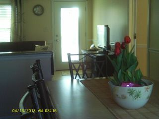 Beach Haven Garden house photo - Open plan dining area, see tv in family rm. w/2 lge. sofas, chair, 2 ottomans