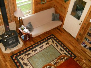 Green Lake cabin photo - View of the dining/sitting area from the loft