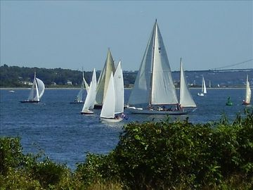 THE HERRESHOFF CLASSIC REGATTA...THE VIEW FROM THE FRONT DECK