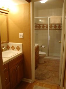 Master bath -- with separate sink outside bathroom for convenience