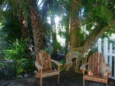 North Captiva Island apartment rental - a garden shaded area to relax