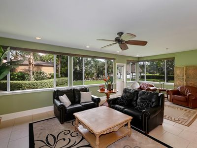 Beautiful Florida room. All windows in house are brand new.