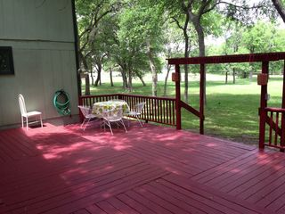 Austin house photo - Deck, great for afternoon lunch, lights for dinner