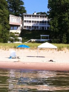 Union Pier house rental - Your beautiful sandy beach, just a short walk down the steps.