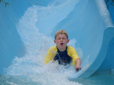 Water slide at Holden Beach. A great way to spend an afternoon.