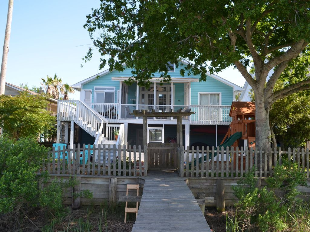 Private Homes Vacation Rental Vrbo 670177 4 Br Folly Beach House In Sc Creekside House With